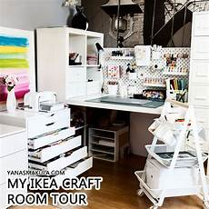my ikea craft room craft corner tour 2018 yana smakula