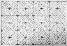69 Contoh Motif Batik Bunga Dibuku Gambar Hitam Putih