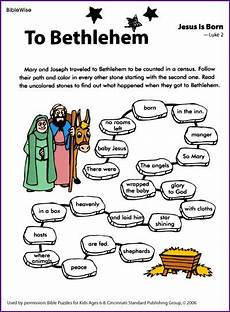 puzzle about joseph and marys trip to bethlehem kids korner biblewise christmas lessons or