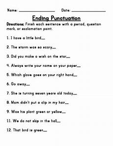 punctuation worksheets with answers grade 9 20925 ending punctuation worksheet i would use this worksheet in class to give students practicing