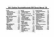 free car repair manuals 2011 cadillac escalade on board diagnostic system 2011 cadillac escalade owners manual just give me the damn manual