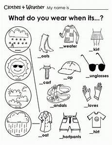 printable weather clothes worksheet english worksheets