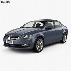 Skoda Octavia Model skoda octavia liftback 2017 3d model vehicles on hum3d