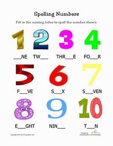 number spelling worksheets for kindergarten 22496 spelling numbers worksheet education