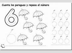 Matemáticas repasar, colorear números del 6 al 10