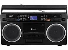 registratore a cassette radio registratore bluetooth a cassette trevi rr 504 bt nero