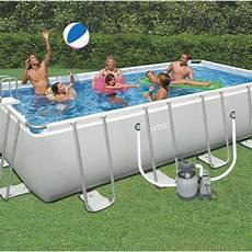 Piscine Hors Sol Autoportante Tubulaire Intex L 6 05 X L