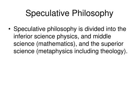Speculative Philosophy