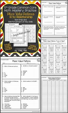 place value relationships 4th grade worksheets 5526 place value patterns 10 to 1 places place values and math