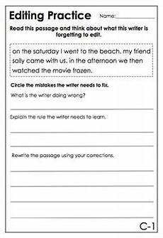 capitalization and punctuation editing worksheets 20756 editing task cards worksheets capitalization punctuation homophones more