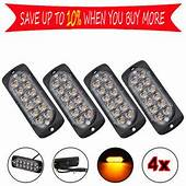 4x CREE 12 LED AMBER RECOVERY STROBE GRILL BREAKDOWN