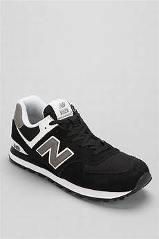 lyst new balance 574 running sneaker in black for