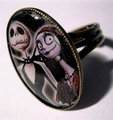nightmare before christmas ring jack skellington and sally