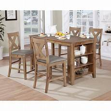 Kitchen Island Table With Chairs by Furniture Of America Ferndale 5 Rustic Counter