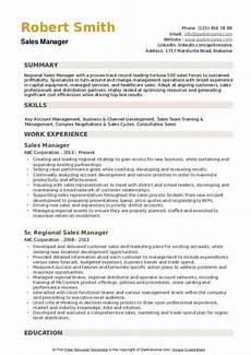 regional sales manager resume sles qwikresume