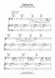calling you sheet music by holly cole piano vocal guitar 27592