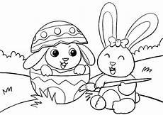 Ausmalbilder Tiere Ostern Ausmalbilder Ostern 2 Osterhasen Auf Der Wiese Bemalen