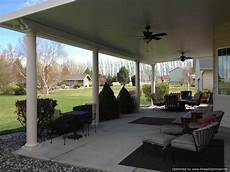 insulated patio cover with ceiling fans and columns interior designs