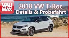 vw t roc sport 2018 vw t roc sport style im review fahrbericht details kaufberatung test vaumax tv