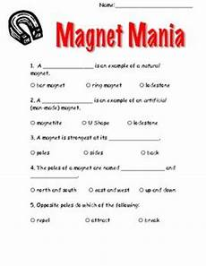 grade 3 science worksheets magnets 12538 from the mixed up files whole book test quizes magnets and 2nd grades