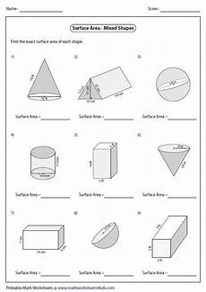 surface area 6th grade worksheets surface area of mixed shapes 6th grade math area worksheets printable math worksheets math
