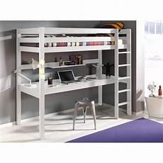 lits chambre literie lit bureau mezzanine pino en pin