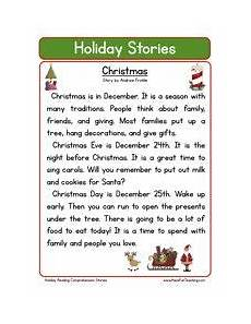 second grade reading comprehension worksheet holiday