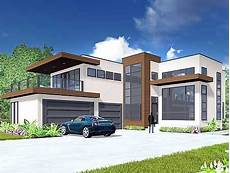 plan 81647ab modern living with private master suite patio house elevation modern modern