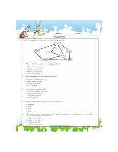 ecosystems and feeding relationships worksheet for 4th grade science practice pdf science
