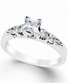 lyst macy s diamond engagement ring 1 ct t w in 14k white gold in white