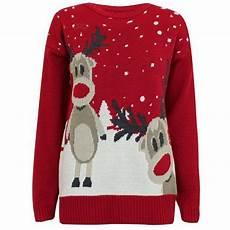 damen weihnachtspullover rudolph pullover