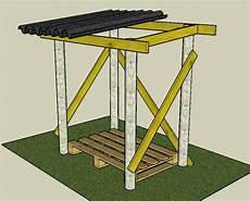 construire un abri buches en bois abris a bois
