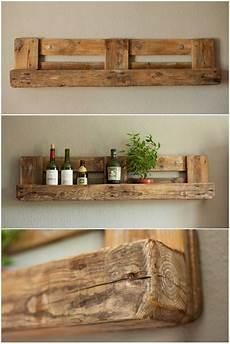 regale aus paletten bauen pallet rustic shelf pallet home decor diy pallet