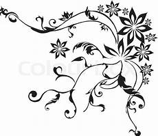 gambar vector decorativ branch ornamen stock colourbox