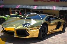 lamborghini aventador wrapped in real gold unveiled in miami carbuzz