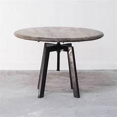 Table Basse De Salon Ronde Industrielle En Bois Et M 233 Tal