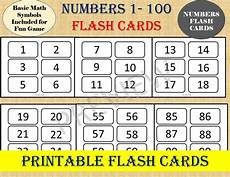 basic math flash cards printable 10768 numbers flash cards numbers 1 to 100 basic math kindergarten educational