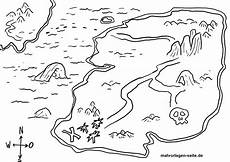 coloring page treasure map pirate treasure free