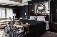Bedroom Ideas Black Bed by Black Bedroom With Curtains Headboard
