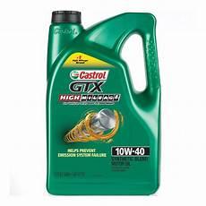 castrol gtx high mileage 10w 40 synthetic blend motor