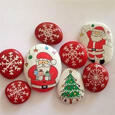 Steine Weihnachtlich Bemalen Ideen F 252 R Tolle Winterliche