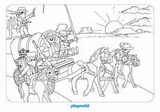 Ausmalbild Playmobil Cowboy Clubdemax Coloriage Cowboys