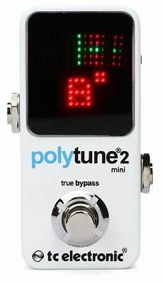 tc polytune 2 tc electronic polytune 2 mini polyphonic tuning pedal sweetwater