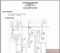 mitsubishi pajero 1994 wiring diagram auto repair manual heavy equipment