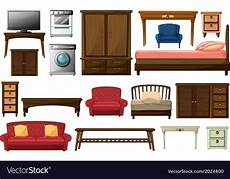 house furnitures and appliances royalty free vector image