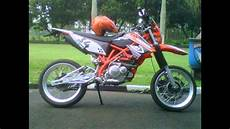 Thunder Modif Trail by Motor Suzuki Thunder 125 Modifikasi Aliran Supermoto