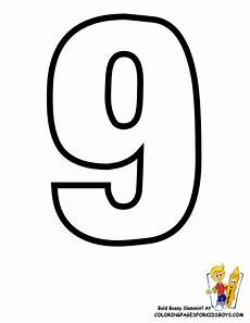 Number Nine Coloring Classic Alphabet Printables Learning Letters Free