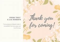 thank you card template for employees customize 202 wedding business card templates canva