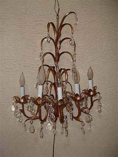 vintage 5 light italian gold gilt candelabra sconce wall