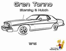 Macho Muscle Car Printables  Free Coloring
